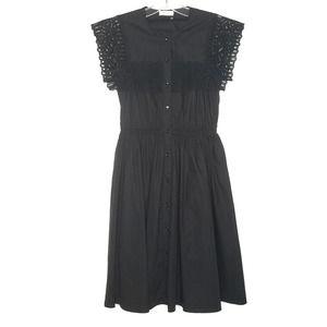 Sandro Paris Lidwine Lace Trimmed Dress